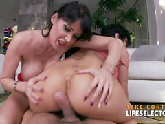 Hardcore Threesome Compilation With American Beauties