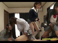 asiatico cfnm sesso di gruppo