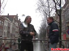 Dutch hooker pussyfucked with bare cock