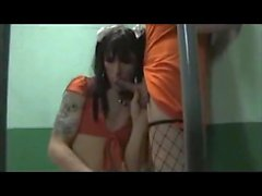 jail house sissy trap threesome