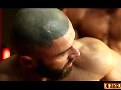 Muscle gay anal rimming and facial