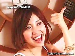 asiático grandes tetas duro interracial modelo
