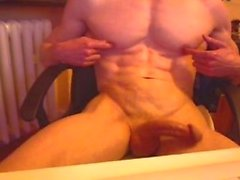 muscle dudes horny night alone
