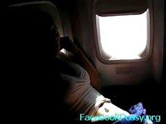 Airplane girlfriend masturbation - youtubepussy