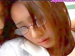 japonés lesbiana colegialas grupo de tres coreano