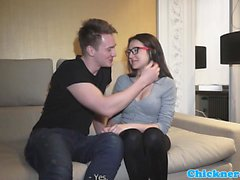 Amateur spex babe screwed with passion