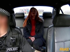 Fake Cop Farm girl fucks policemans big cock