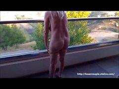offentlig nakenhet balkong