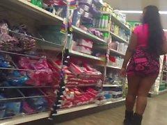 ghetto slut ass out in skirt