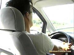 soin du visage allemand milf de plein air réalité