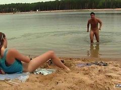 strand stora kukar avsugning brunett teen