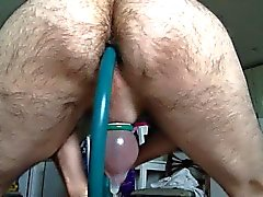 Bent over working my prostate