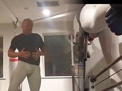 White lycra workout