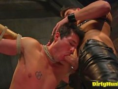 Muscle boy domination and facial