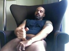 Handsome Bearded Daddy Jerks Off & Cums