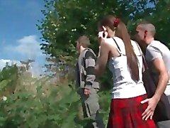 amatööri ranskalainen threesomes
