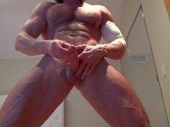 Veiny Muscle God Muscle Flex, JO & Cums!