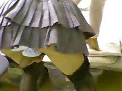 Teen Japanese CD stockings and skirt jo