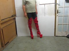 posing in my 9 inch stiletto heeled boots
