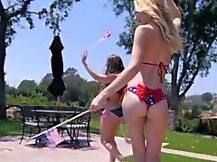 Pornstar Alexa Grace scissorfucking outdoors