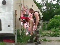 sottomesso militare uniforme muscolo jocks