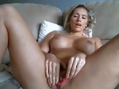 Babe big round ass butt big tits rubbing hairy pussy