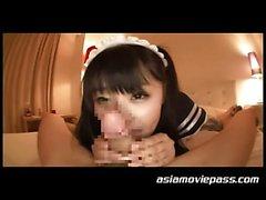 asiatico bambino pompino tastare