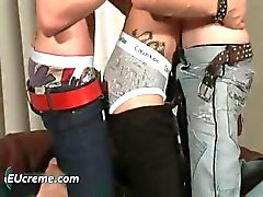 Three gay guys have fun sucking hard part5