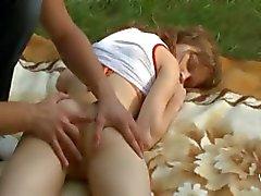 anaal bos groot buiten tiener