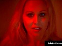 julia ann masturbación sexo oral maduro rubia