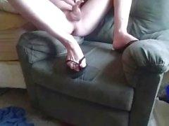masturbieren nackt aufwirft fuss - fetisch flip-flops