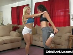 Bubble Butt Cristi Ann & Victoria Monet Stretch & Fuck!