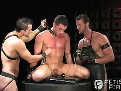 Tristan Phoenix is punished by Phenix Saint and Rusty Steven