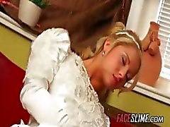 Caught Masturbating On Her Wedding Day