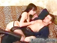 Kinky mom drilled by machine and sucking part2