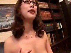 Bodacious Japanese babe with glasses can't wait to fulfill