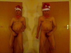 974 at1 Weihnachtsmann nackt Tanz Santa Claus naked dance