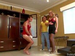 Mistress Humiliates Sub Boyfriend