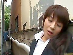 Frustrated Japanese doll masturbates part2
