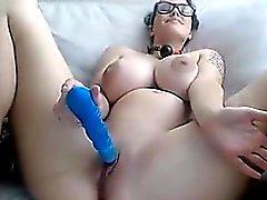 amateur big boobs brünett masturbation