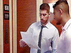 gay homosexuella par kontor offentlig