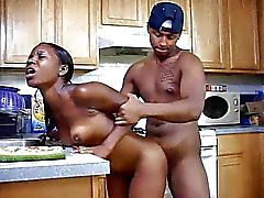 Ebony Teen Fucked In Kitchen