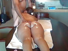busty asian milf with a perfect ass get massaged and fucked