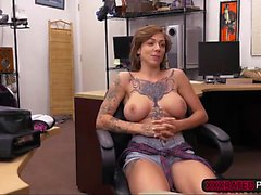Harlow Harrison fucked in the office