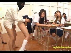 asiático colegio sexo en grupo hd