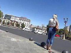amatör hd-video dold kamera höga klackar utomhus