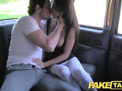 Fake Taxi tall Spanish beauty fucks her bf in the back