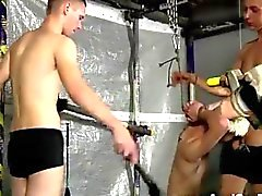 Gay twink slave Aiden gets his face drilled