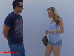 Skinny blond with tattoo gets fucked and squirt everywhere on his dick and