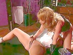 2 big tits chicks into bondage, BDSM and lesbian action